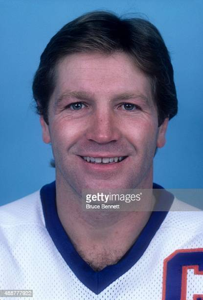 Denis Potvin of the New York Islanders poses for a portrait in October 1983 at the Nassau Coliseum in Uniondale New York