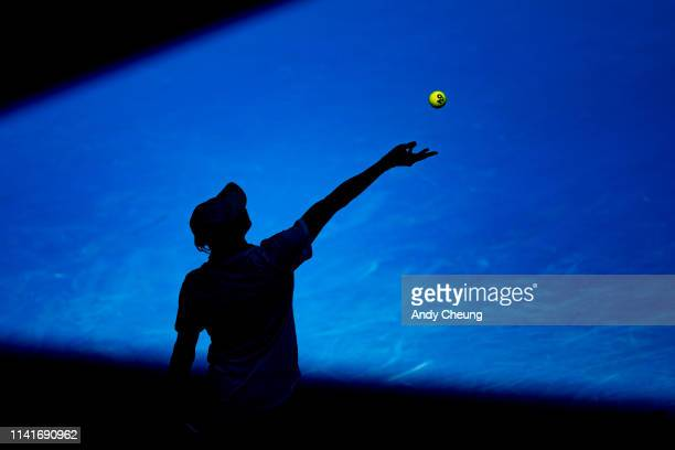 Denis Shapovalov of Canada at the 2019 Australian Open Tennis Championship during Day 6 Match on 19 Jan 2019 at Melbourne Park Tennis Centre...