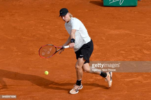 Denis Shapovalov of Canada during the Monte Carlo Rolex Masters 1000 at Monte Carlo on April 16 2018 in Monaco Monaco