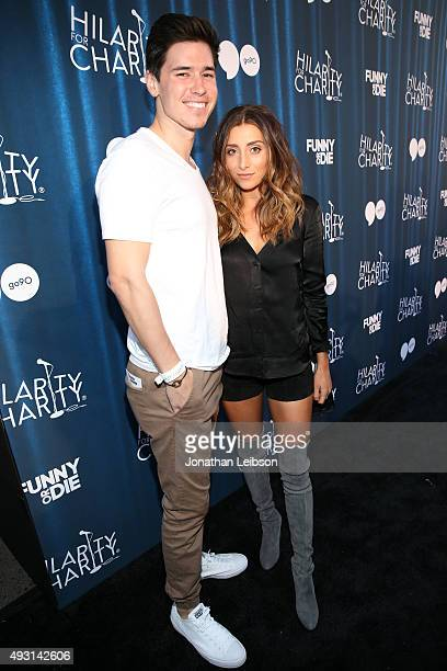 Denis Shepherd and Internet personality Lauren Elizabeth attend Hilarity for Charity's annual variety show James Franco's Bar Mitzvah benefiting the...