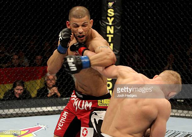 Denis Siver of Germany fights Andre Winner of England during their UFC Lightweight bout at the Konig Pilsner Arena on November 13 2010 in Oberhausen...