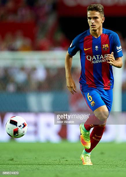 Denis Suarez of FC Barcelona in action during the match between Sevilla FC vs FC Barcelona as part of the Spanish Super Cup Final 1st Leg at Estadio...