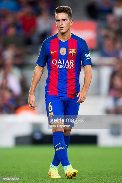 Denis Suarez of FC Barcelona looks on during the Joan Gamper trophy match between FC Barcelona and UC Sampdoria at Camp Nou on August 10 2016 in...
