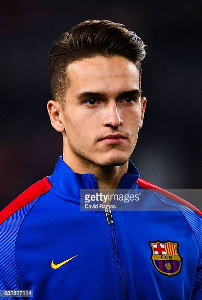 Denis Suarez of FC Barcelona looks on prior to kickoff during the Copa del Rey quarterfinal second leg match between FC Barcelona and Real Sociedad...