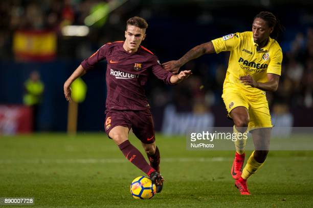 Denis SuarezRuben Semedo during the match between Villarreal CF against FC Barcelona week 15 of La Liga 2017/18 at Ceramica stadium Villarreal SPAIN...