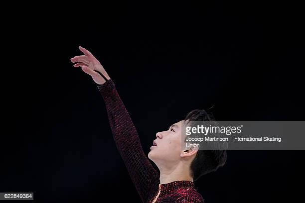 Denis Ten of Kazakhstan competes during Men's Free Skating on day two of the Trophee de France ISU Grand Prix of Figure Skating at Accorhotels Arena...