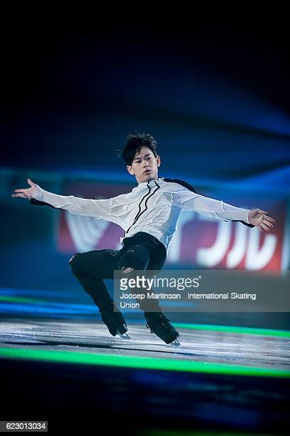 Denis Ten of Kazakhstan performs during Gala Exhibition on day three of the Trophee de France ISU Grand Prix of Figure Skating at Accorhotels Arena...