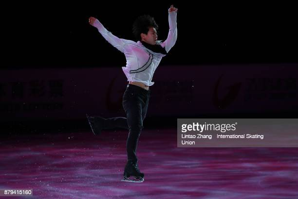 Denis Ten of Kazakhstan performs during the 2017 Shanghai Trophy Exhibition at the Oriental Sports Center on November 26 2017 in Shanghai China