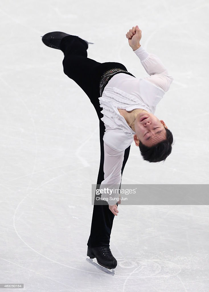 Denis Ten of Kazakhstan performs during the Men Short Program on day one of the ISU Four Continents Figure Skating Championships 2015 at the Mokdong Ice Rink on February 12, 2015 in Seoul, South Korea.
