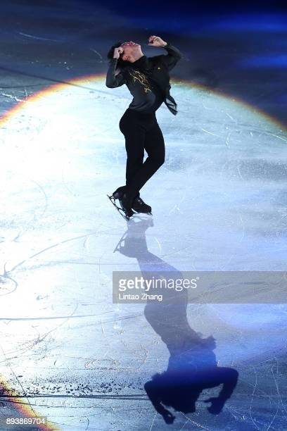 Denis Ten of Kazakhstan performs during the Stars On Ice 2017 China Tour at Beijing Capital Gymnasium on December 16 2017 in Beijing China