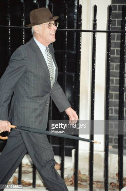 Denis Thatcher at 10 Downing Street amid the Conservative Party leadership battle 21st November 1990