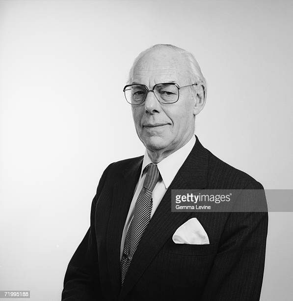 Denis Thatcher British businessman and husband of British Prime Minister Margaret Thatcher circa 1985