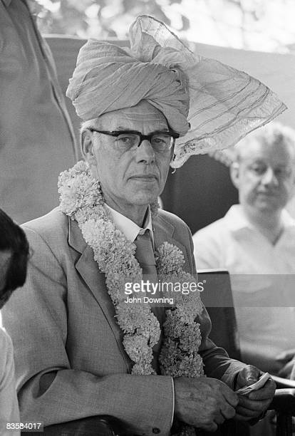 Denis Thatcher the husband of British prime minister Margaret Thatcher during an official visit to India 20th April 1981