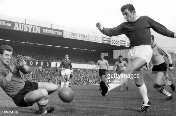 Denis Thwaites, Birmingham City Football Player in action, league division one match against Wolves at St Andrews, Saturday 26th October 1963....