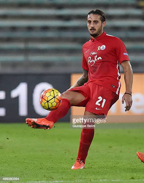 Denis Tonucci of AS Bari in action during a tornemnt between FC Internazionale AC Milan and AS Bari at Stadio San Nicola on November 24 2015 in Bari...