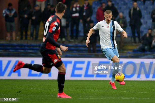 Denis Vavro of SS Lazio in action during the Serie A match between Genoa CFC and SS Lazio at Stadio Luigi Ferraris on February 23 2020 in Genoa Italy