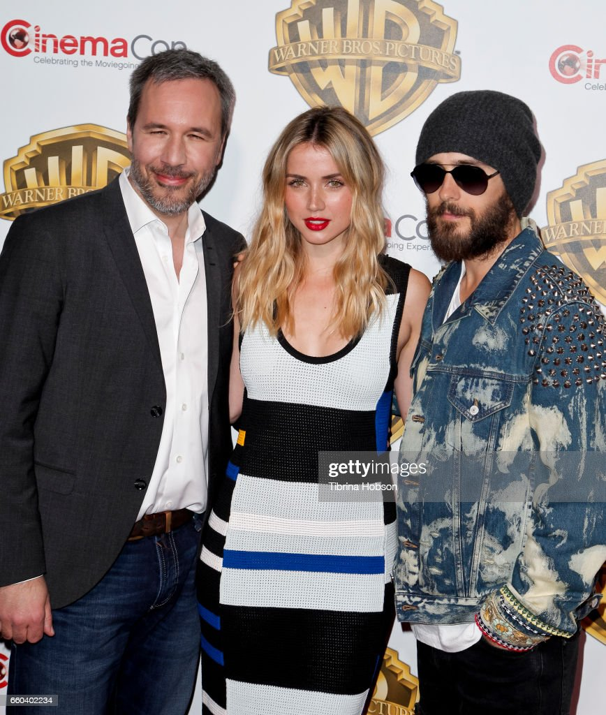 Denis Villeneuve, Ana De Armas and Jared Leto attend Warner Bros. Pictures 'The Big Picture', an exclusive presentation of our upcoming slate at The Colosseum at Caesars Palace during CinemaCon 2017 on March 29, 2017 in Las Vegas, United States.