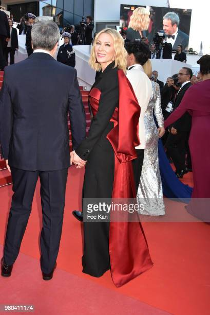 Denis Villeneuve and Cate Blanchett attend the Closing Ceremony screening of 'The Man Who Killed Don Quixote' during the 71st annual Cannes Film...