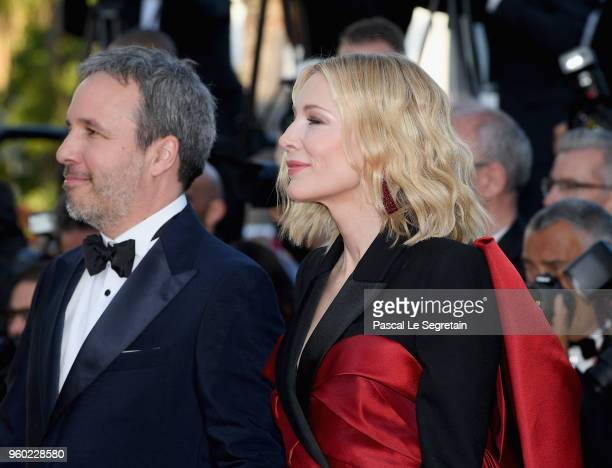 Denis Villeneuve and Cate Blanchett attend the screening of 'The Man Who Killed Don Quixote' and the Closing Ceremony during the 71st annual Cannes...