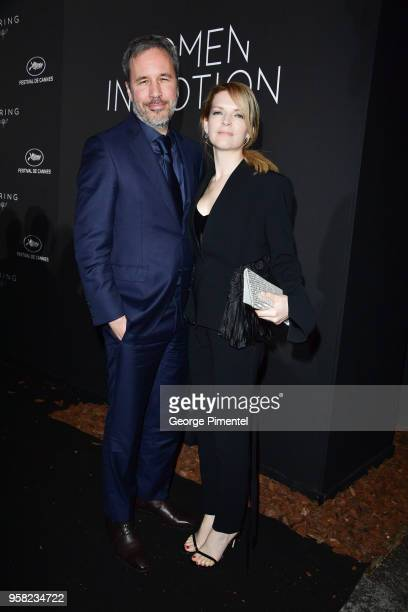 Denis Villeneuve and Tanya Lapointe attend the Kering Women In Motion dinner during the 71st annual Cannes Film Festival at Place de la Castre on May...
