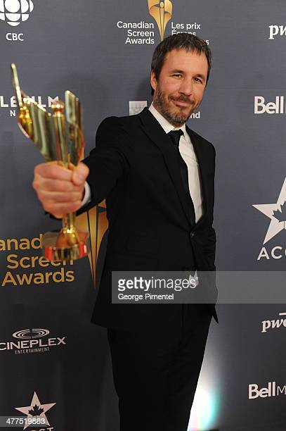 Denis Villeneuve winner the acheivement in Direction award in the press room at the 2014 Canadian Screen Awards at Sony Centre for the Performing...