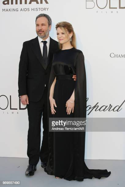 Denis VIllenueve and Tanya Lapointe arrive at the amfAR Gala Cannes 2018 at Hotel du CapEdenRoc on May 17 2018 in Cap d'Antibes France