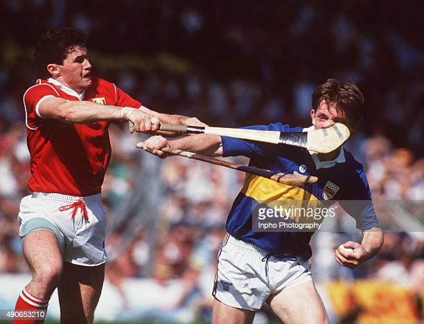 Denis Walsh of Cork and Nicky English of Tipperary Munster Hurling Final Thurles Mandatory Credit ©INPHO/James Meehan