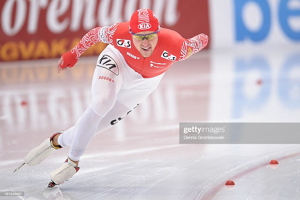 Denis Ysukov of Russia competes in the Men's 1500m Division A race during day two of the ISU Speed Skating World Cup at Max Aicher Arena on February 10, 2013 in Inzell, Germany.