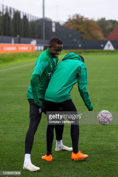 Denis Zakaria during a Training session of Borussia Moenchengladbach at Borussia-Park on October 26, 2020 in Moenchengladbach, Germany.