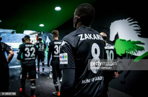Denis Zakaria of Borussia Moenchengladbach ahead of the Bundesliga match between Borussia Moenchengladbach and RB Leipzig at BorussiaPark on Feburary...