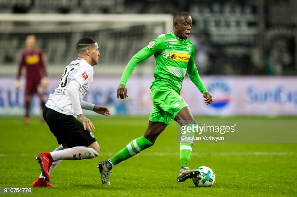 Denis Zakaria of Borussia Moenchengladbach during the Bundesliga match between Eintracht Frankfurt and Borussia Moenchengladbach at CommerzbankArena...