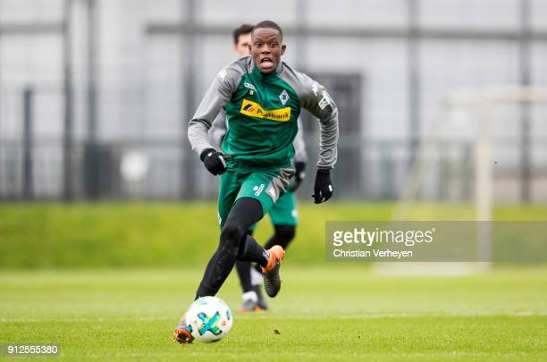 Denis Zakaria of Borussia Moenchengladbach in action during a training session of Borussia Moenchengladbach at BorussiaPark on January 31 2018 in...