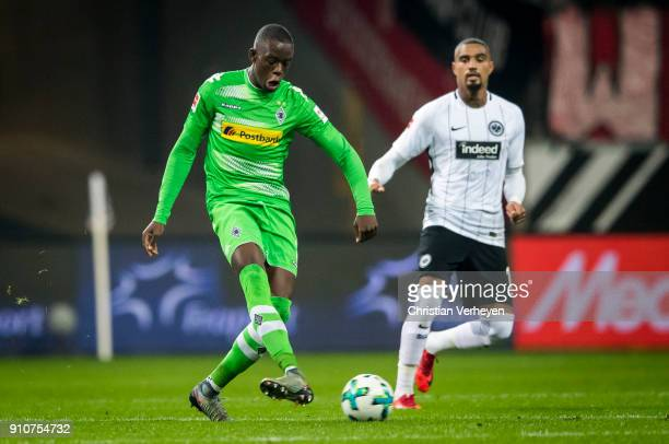 Denis Zakaria of Borussia Moenchengladbach in action during the Bundesliga match between Eintracht Frankfurt and Borussia Moenchengladbach at...