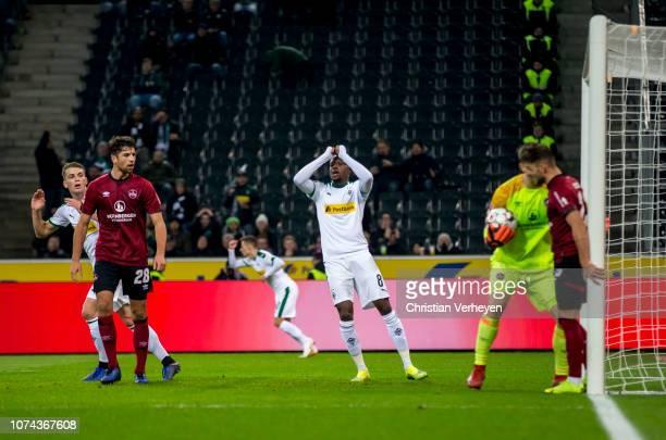 Denis Zakaria of Borussia Moenchengladbach in actionduring the Bundesliga match between Borussia Moenchengladbach and 1FC Nuernberg at BorussiaPark...