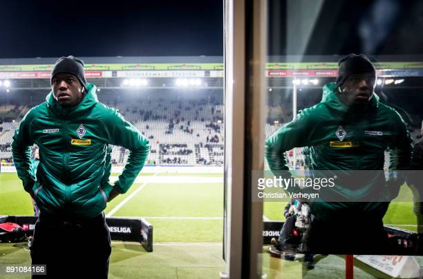 Denis Zakaria of Borussia Moenchengladbach is seen ahead of the Bundesliga match between SC Freiburg and Borussia Moenchengladbach at...