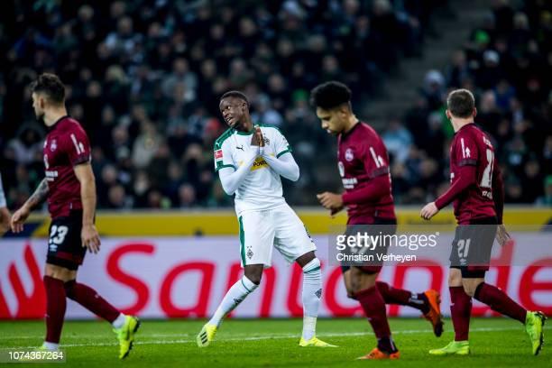 Denis Zakaria of Borussia Moenchengladbach is seen battle for the ball during the Bundesliga match between Borussia Moenchengladbach and 1FC...