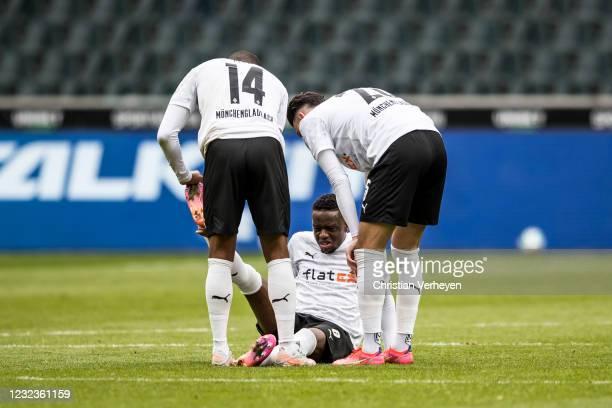 Denis Zakaria of Borussia Moenchengladbach is seen during the Bundesliga match between Borussia Moenchengladbach and Eintracht Frankfurt at...