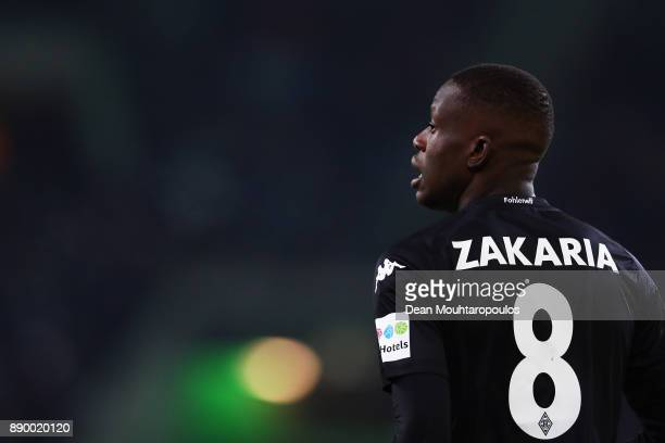 Denis Zakaria of Borussia Monchengladbach looks on during the Bundesliga match between Borussia Moenchengladbach and FC Schalke 04 at BorussiaPark on...