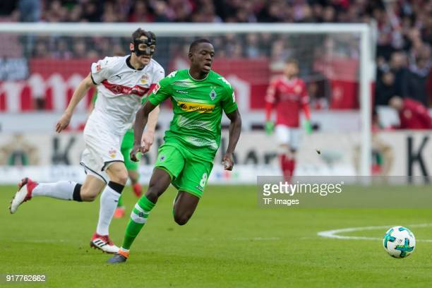 Denis Zakaria of Moenchengladbach controls the ball during the Bundesliga match between VfB Stuttgart and Borussia Moenchengladbach at MercedesBenz...