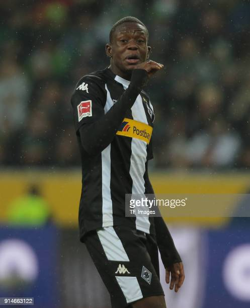 Denis Zakaria of Moenchengladbach gestures during the Bundesliga match between Borussia Moenchengladbach and FC Augsburg at BorussiaPark on January...