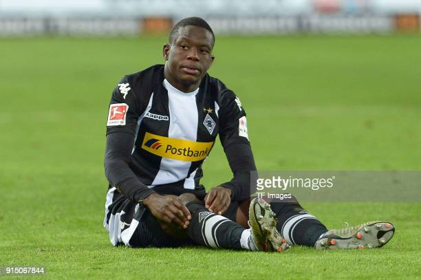 Denis Zakaria of Moenchengladbach on the ground during the Bundesliga match between 1 FC Koeln and Borussia Moenchengladbach at RheinEnergieStadion...