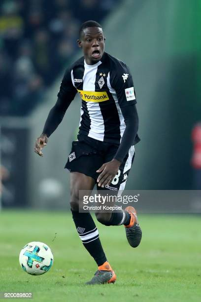 Denis Zakaria of Moenchengladbach runs with the ball during the Bundesliga match between Borussia Moenchengladbach and Borussia Dortmund at...