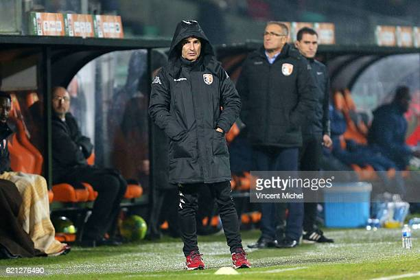 Denis Zanko headcoach of Laval during the Ligue 2 match between Stade Lavallois and Le Havre AC on November 4 2016 in Laval France