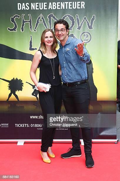 Denis Zich and Andreas Elsholz attend the 'Shadowland 2 Neues aus dem Reich der Schatten' World Premiere at Admiralspalast on July 28 2016 in Berlin...