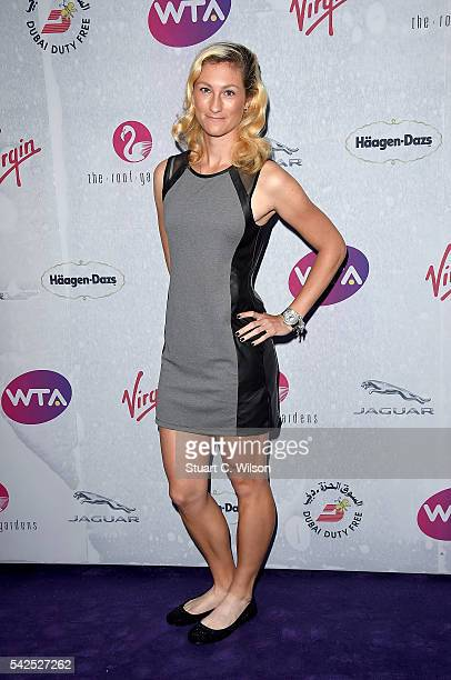 Denisa Allertova attends the annual WTA PreWimbledon Party presented by Dubai Duty Free at the Kensington Roof Gardens on June 23 2016 in London...