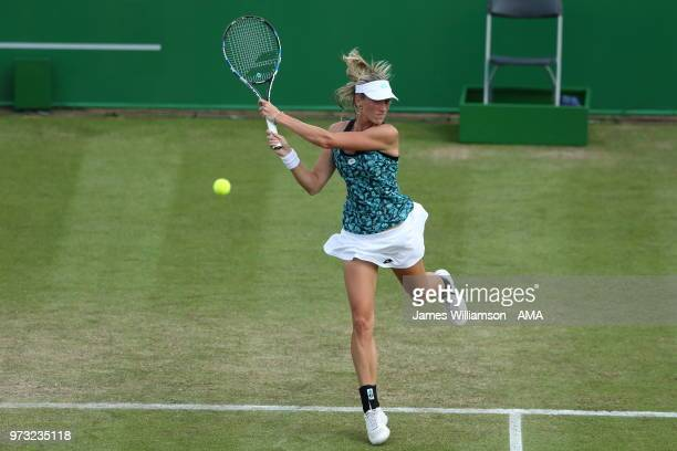 Denisa Allertova of Czech Republic during Day Five of the Nature Valley open at Nottingham Tennis Centre on June 13 2018 in Nottingham England