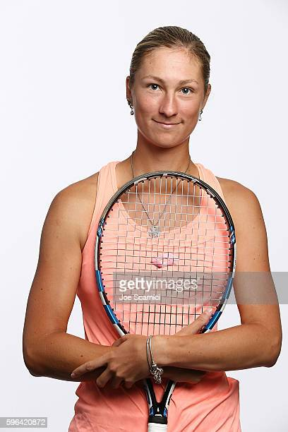 Denisa Allertova of Czech Republic poses for a WTA Portrait at Arthur Ashe Stadium on August 26 2016 in New York City