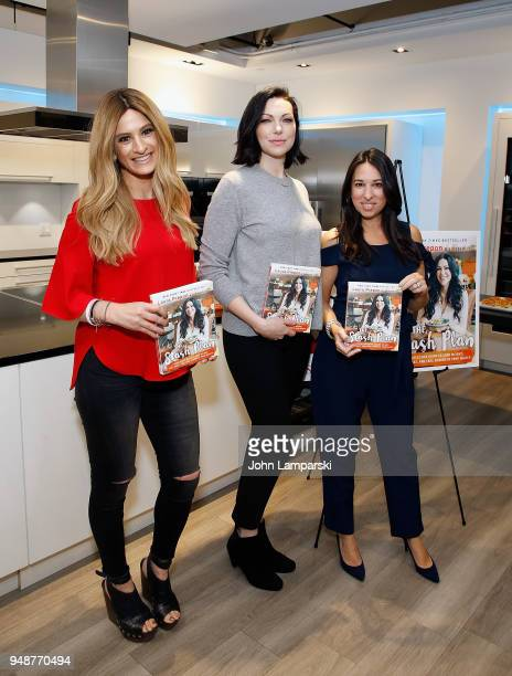 Denise Albert and Melissa Musen Gerstein join Laura Prepon as she visits THE MOM'S at Miele Experience Center on April 19 2018 in New York City