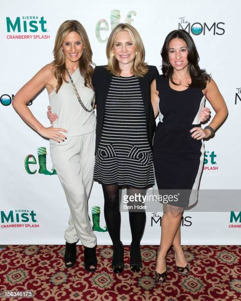 Denise Albert Andrea Canning and Melissa Musen Gerstein of The Moms attend Elf The Musical Holiday Christmas Party Hosted By The Moms at Al...