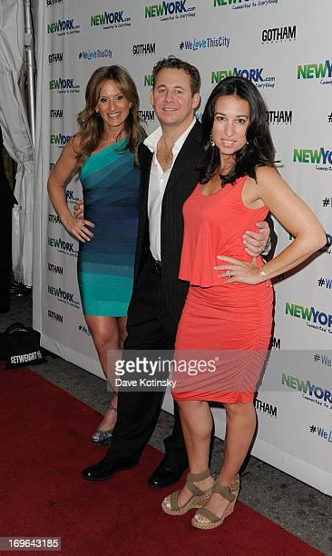 Denise Albert Brett Reizen and Melissa Musen Gerstein attend NEWYORKCOM Connected To Everything Launch Party on May 29 2013 in New York United States